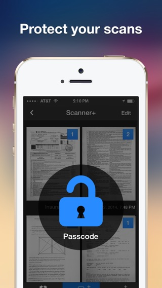 Scanner+ Pro scan documents into PDF Screenshot