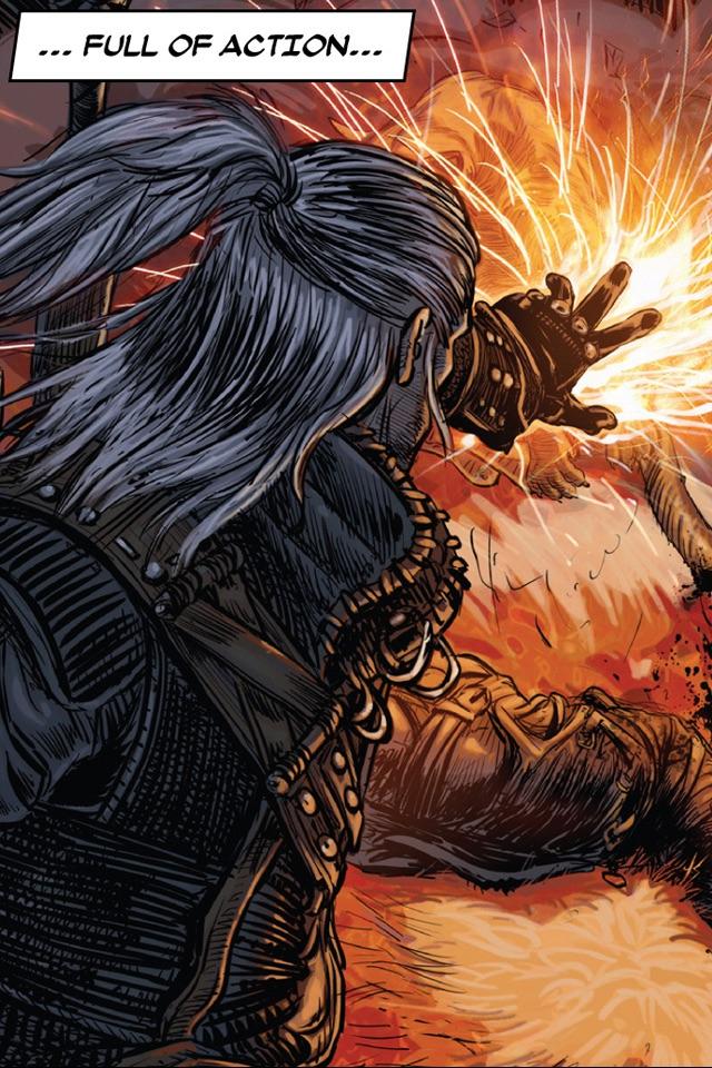The Witcher 2 Interactive Comic Book Screenshot