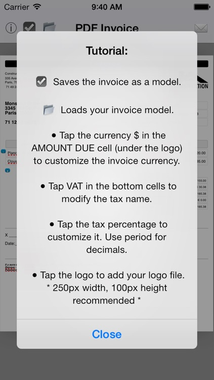 Simple Invoice Maker   Create PDF from your iPhone