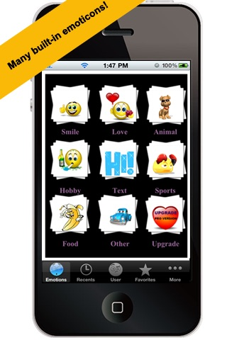Screenshot for All-In-1 3D Emoticons Professional Free in India App Store