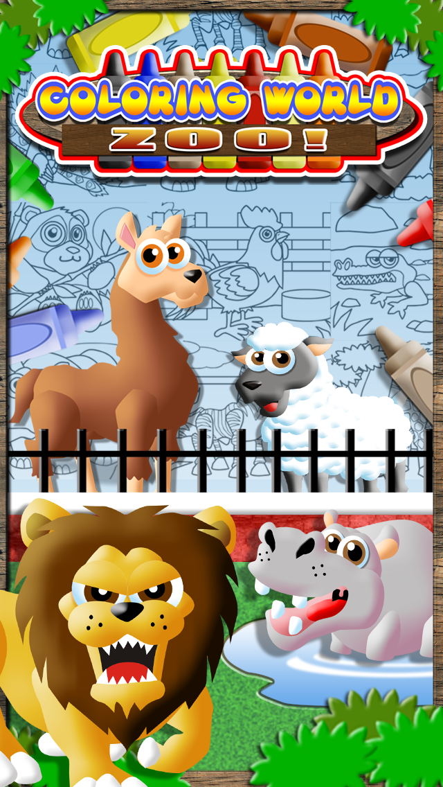 Coloring World: My Zoo Animal Friends Draw & Color Book for