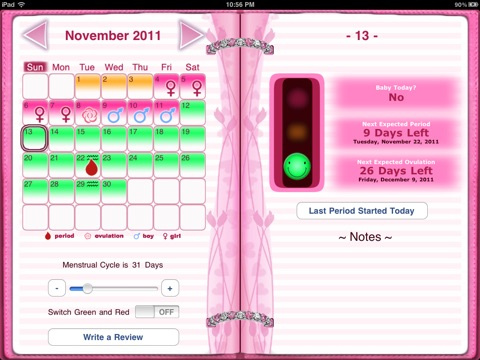 maybe baby 2016 for ipad fertility ovulation diary period