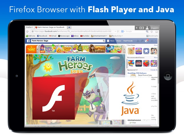 VirtualBrowser for Firefox + Flash Player, Java browser \u0026 Add-ons