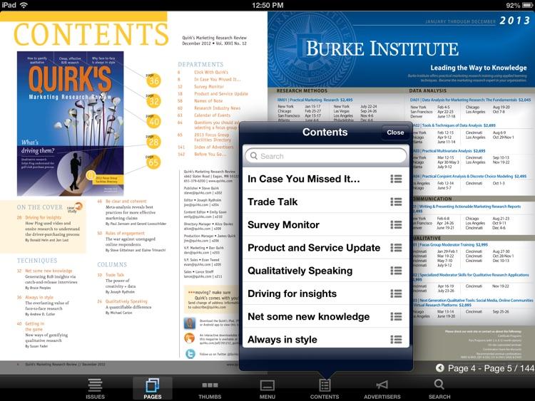 Quirk's Magazine screenshot-3