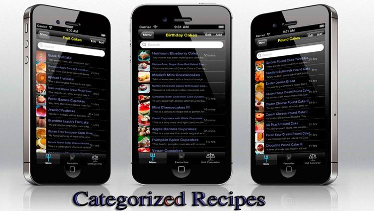 Cake Recipes for iPhone, iPod and iPad screenshot-3