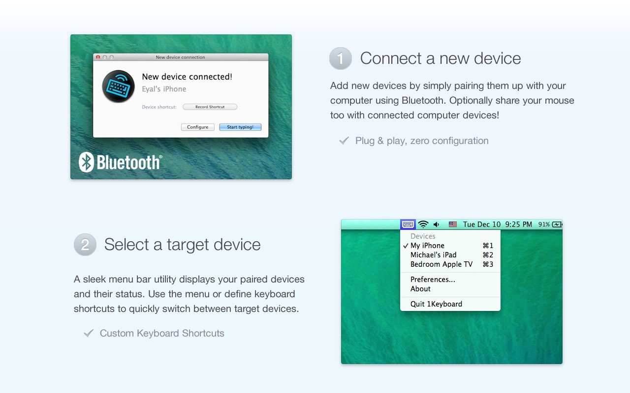Screenshot do app 1Keyboard