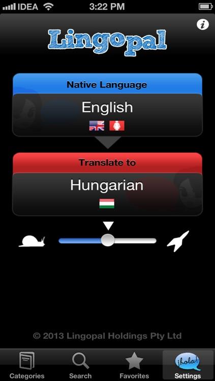 Lingopal Hungarian LITE - talking phrasebook