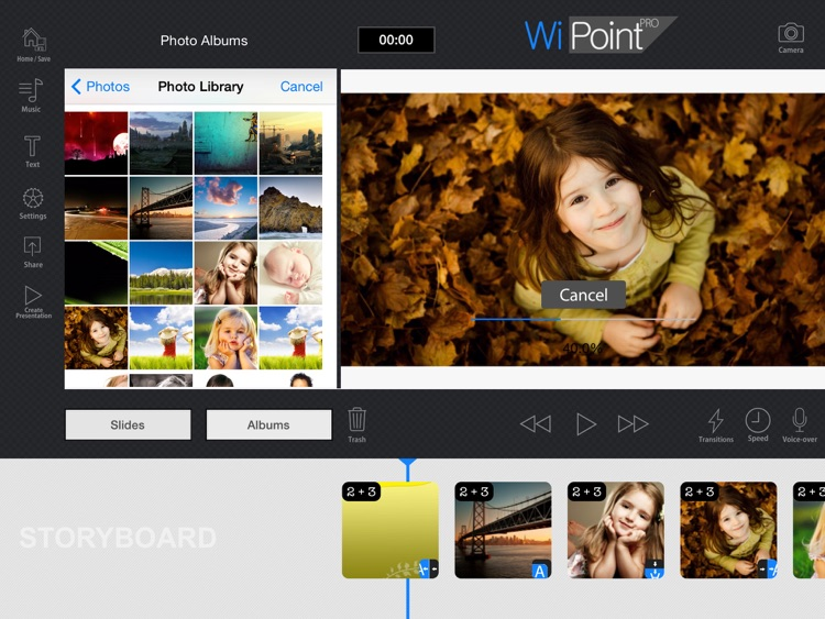WiPoint HD Pro - Make HD video presentation & photo slideshow screenshot-1