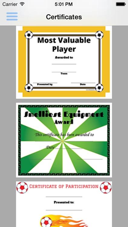 Soccer Pack 01 Certificate Creator screenshot-3