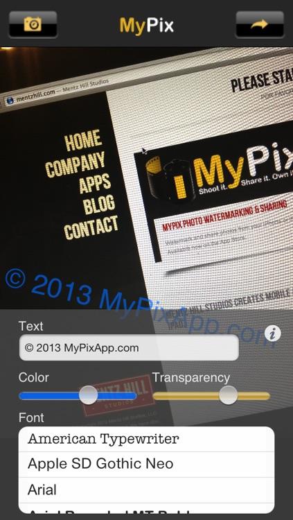 MyPix Photo Watermarking and Sharing