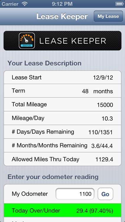 Lease Keeper Car Mileage Tracker