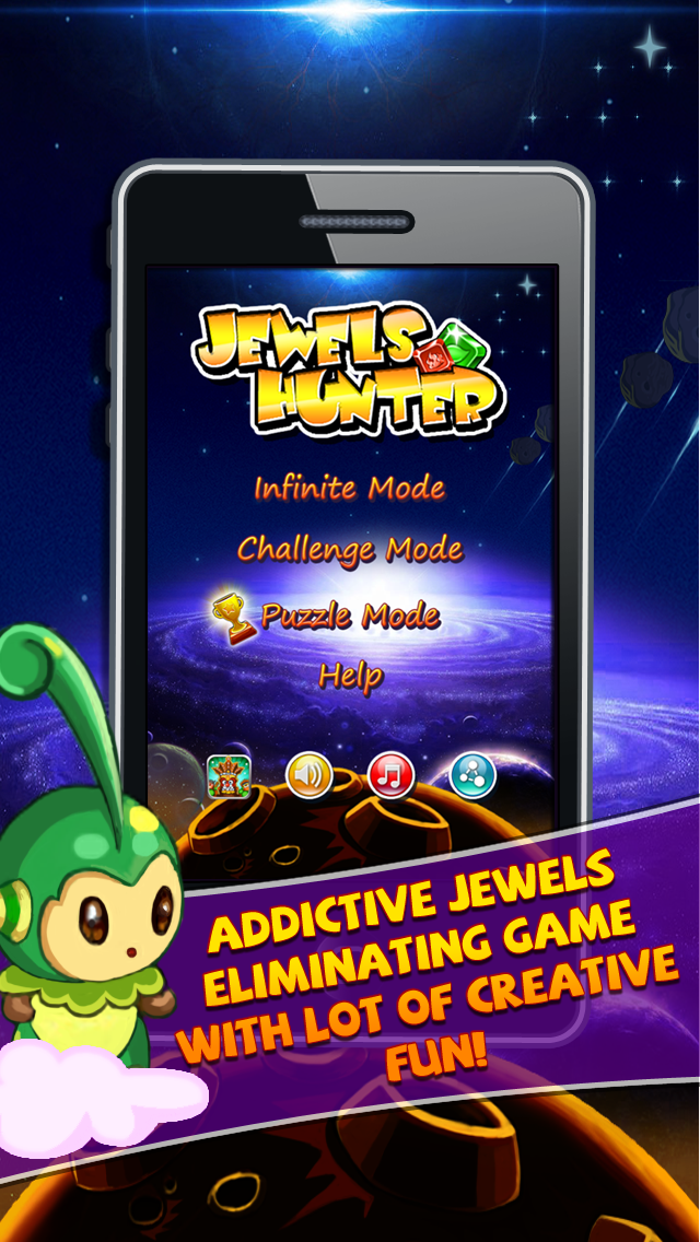 Jewels Hunter Lite - Eliminate Gems and Save Dora
