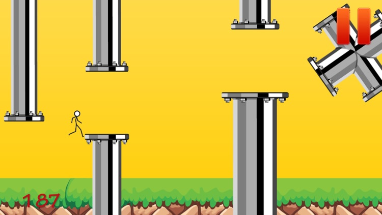 Flappy Stick-man Obstacle Course 2 - The Extreme Challenge