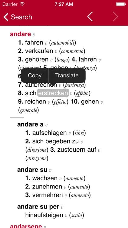 German-Italian Dictionary from Accio