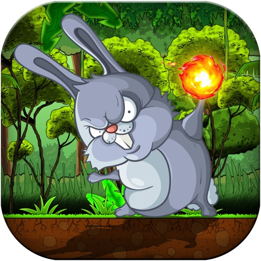 Bunny Jungle Jump & Fire Throw - Jumping Rabbit & Flying Burning Ball PRO FUN