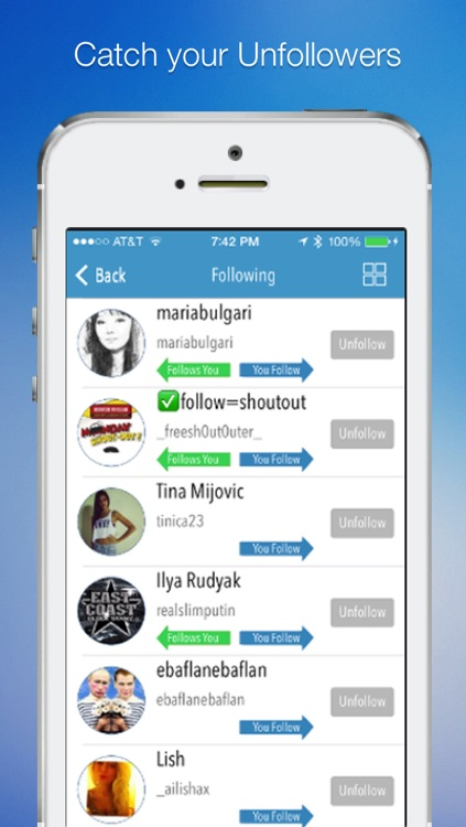 InstaTrack Pro for Instagram - Followers and Unfollowers Manager & Tracker