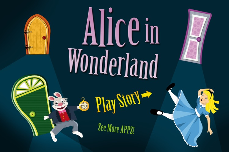Alice in Wonderland - Interactive story book and coloring pages