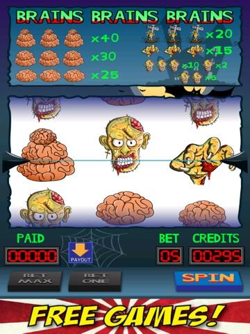 Brains Brains Brains Zombie Casino Slot Machine-ipad-1