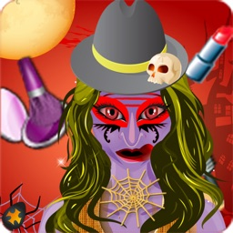 Monster Dress Up High School Salon Party: make-up hair makeover games for girl teens kids