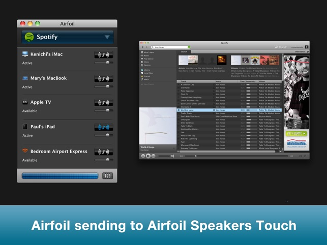 Airfoil Speakers Touch Screenshot