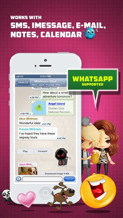 Whatsicons - Emoji Stickers, Emoticons, Text Pics for Whatsapp & Text Messaging screenshot-3
