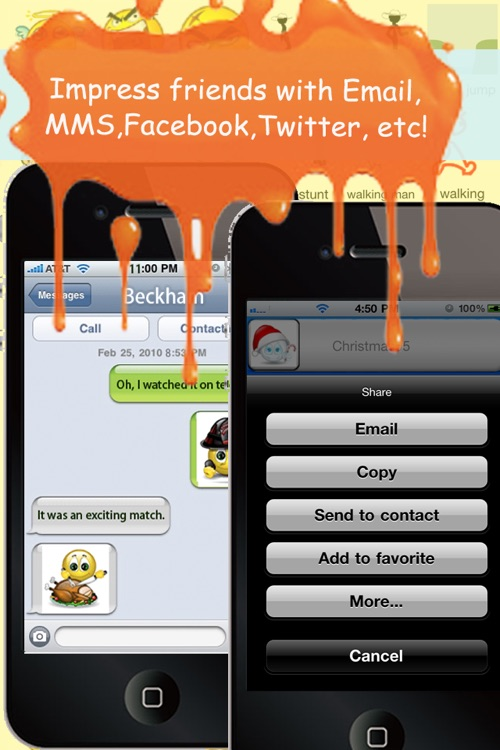 Animoticons+Emoji PRO for MMS & Facebook Text Messaging(FREE) screenshot-4