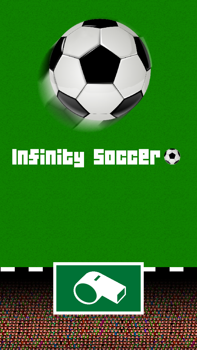 Infinity Soccer - The Tap Tap Running Ball screenshot one
