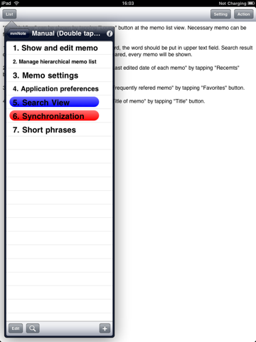 Screenshot of mmNote