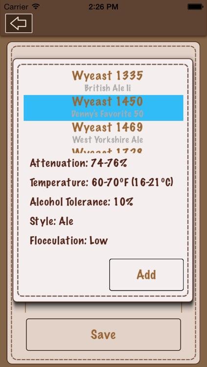 Beer Recipe Calculator Lite screenshot-4