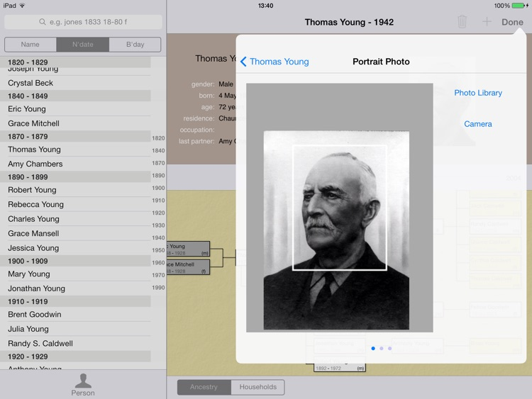 LiveHistory genealogy screenshot-4