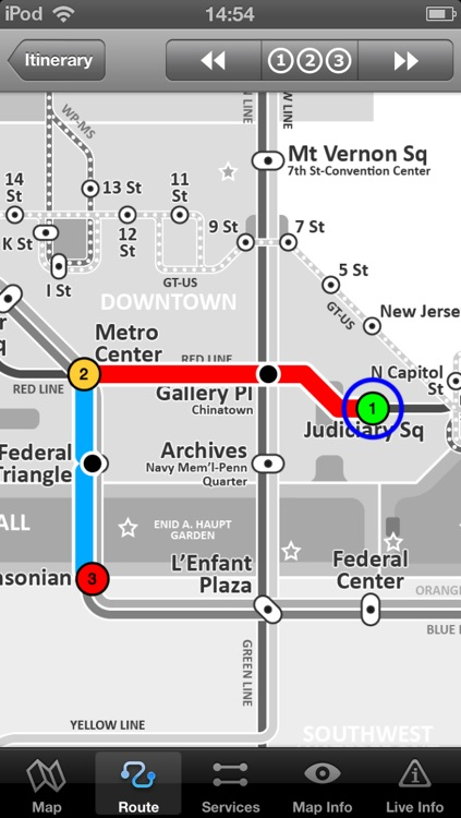 Washington Metro - Map and route planner by Zuti screenshot-3