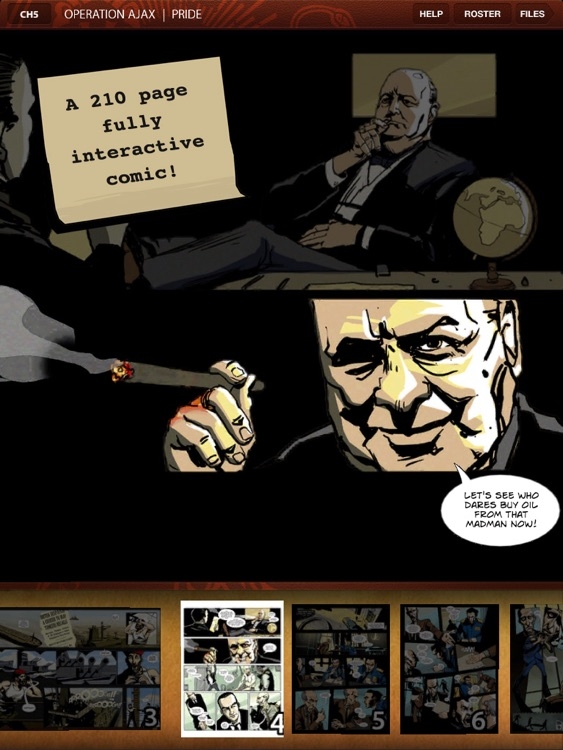 CIA : Operation Ajax the Interactive Graphic Novel for iPad