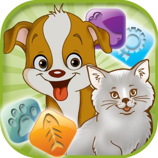 Cats Dogs Flow Game Free Divertirsi Capretti Giochi Gratis Per