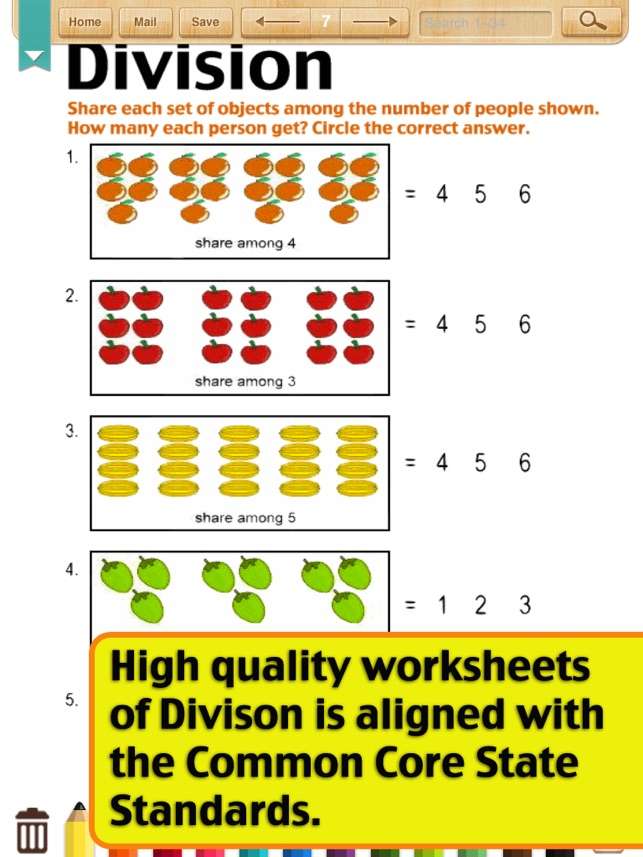 Kids Math-Division Worksheets(Grade 3) on the App Store
