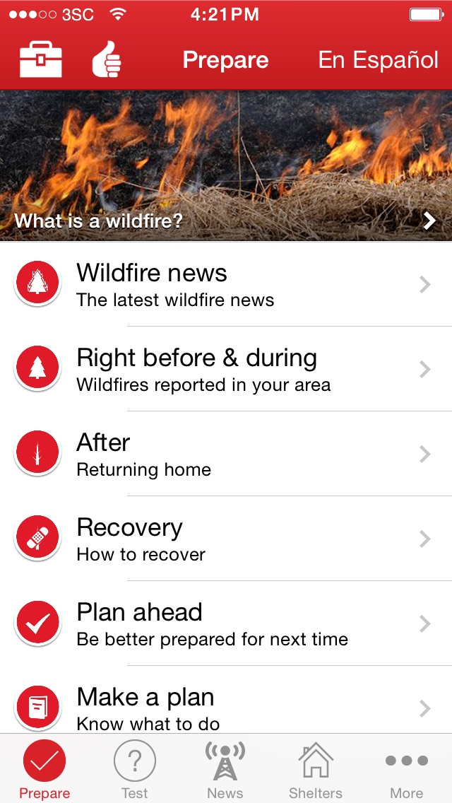 Wildfires by American Red Cross Screenshot