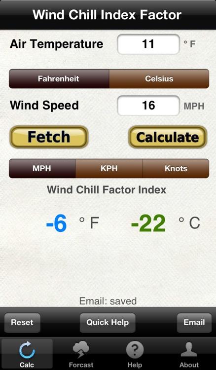 Wind Chill & Wind Speed