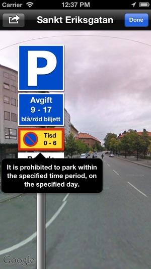gatuparkering stockholm karta Gatuparkering Stockholm on the App Store gatuparkering stockholm karta