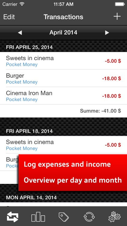 Money Log Ultimate Free - Save your pocket money, track expenses and income