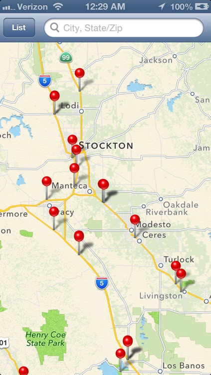 Truck Stops Finder screenshot-0