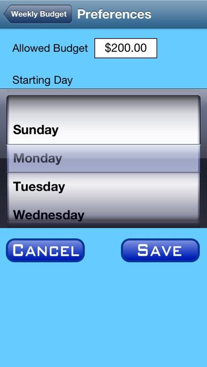 Simple Budget: Week screenshot-4