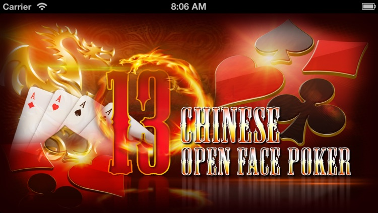 Chinese Open Face Poker