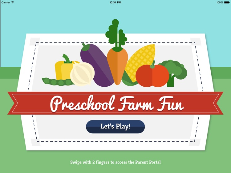 Preschool Farm Fun - Teach your child colors, counting, shapes and puzzles using yummy Vegetables! screenshot-0