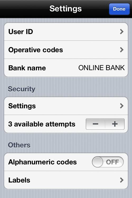 Operative Codes