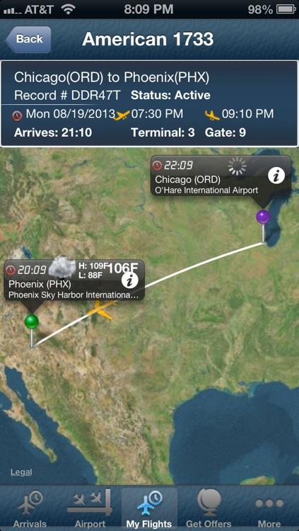 Phoenix Airport + Flight Tracker Premium