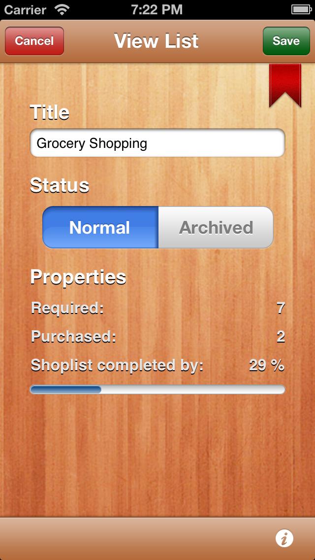 My Shopping Lists Free screenshot four