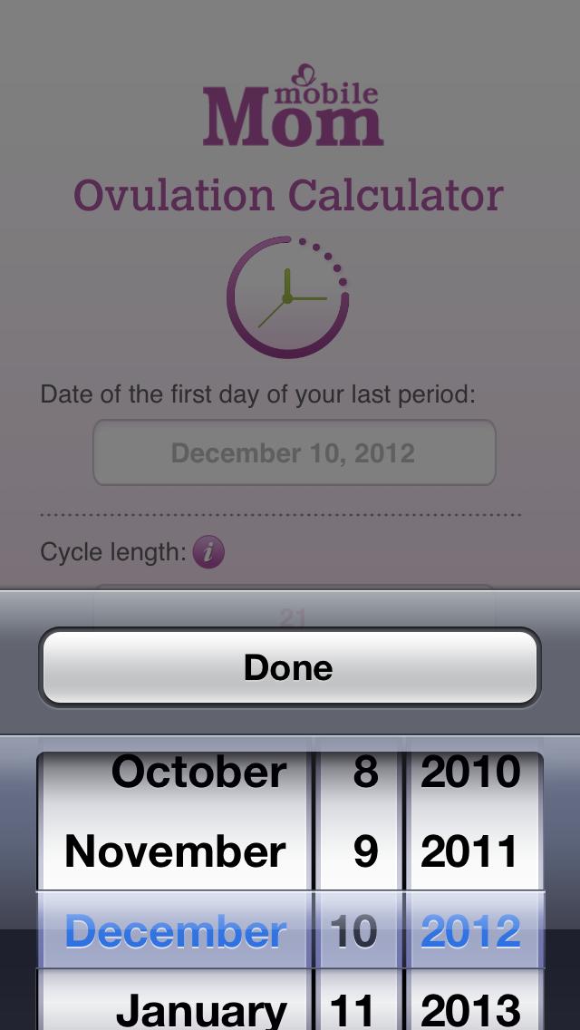 Ovulation Calculator & Fertility Tracker Screenshot