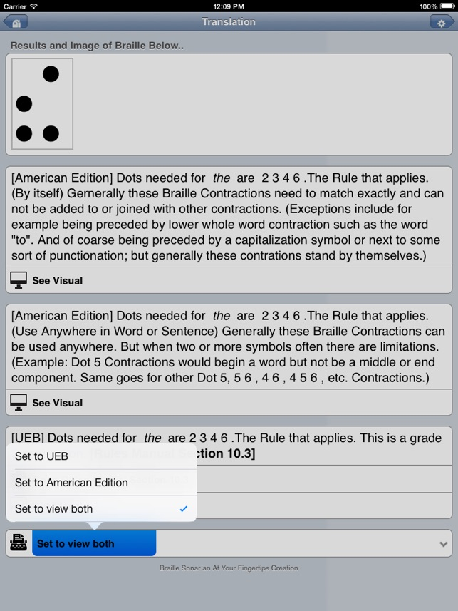 Braille Sonar Pro On The App Store