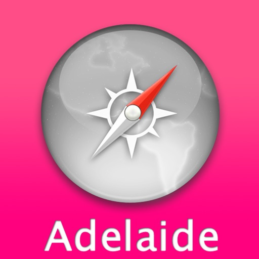 Adelaide Travel Map (Australia)