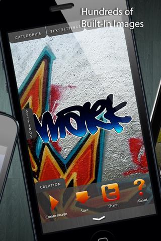 Graffiti Tag Creator - Custom Wallpapers/Backgrounds, Lock Screen & Home Screens screenshot 2