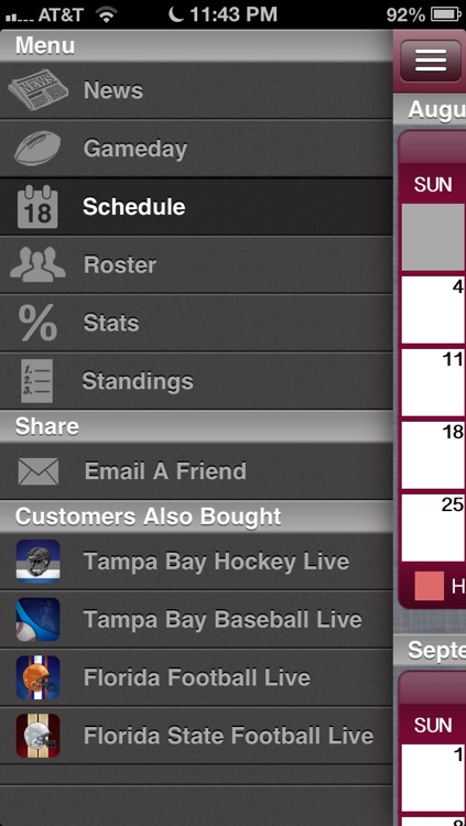Tampa Bay Football Live screenshot-3